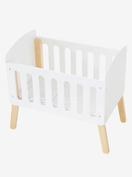 Wooden Bed with Legs for Dolls WHITE BRIGHT SOLID - vertbaudet enfant