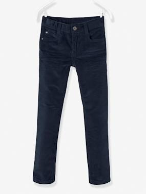 The Adaptables Trousers-Boys-Corduroy Slim Leg Trousers for Boys, NARROW Hip