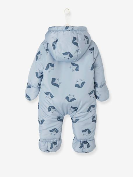 Convertible Baby Snowsuit BLUE MEDIUM SOLID+Ink+PINK LIGHT ALL OVER PRINTED+WHITE LIGHT SOLID WITH DESIGN - vertbaudet enfant