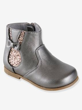 Shoes-Baby Footwear-Boots with Zip for Girls