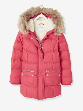 Vertbaudet Collection-Down Coat with Hood for Girls