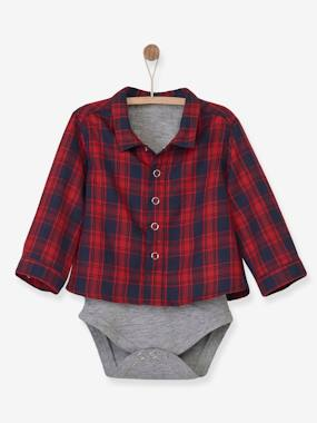 Schoolwear-Baby-Checked Shirt-Bodysuit for Newborn Babies