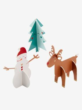 Bedding & Decor-Decoration-Wall Décor-Set of 3 Christmas Decorations to Assemble