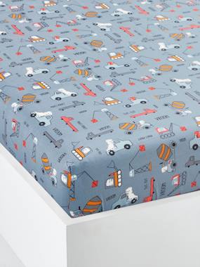 Bedding & Decor-Child's Bedding-Fitted Sheets-Fitted Sheet, DINO TRUCK Theme