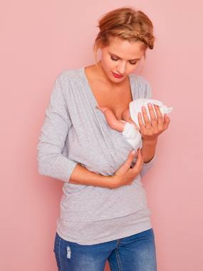 Maternity-T-shirts & Tops-Skin-to-Skin T-Shirt, for Premature Babies
