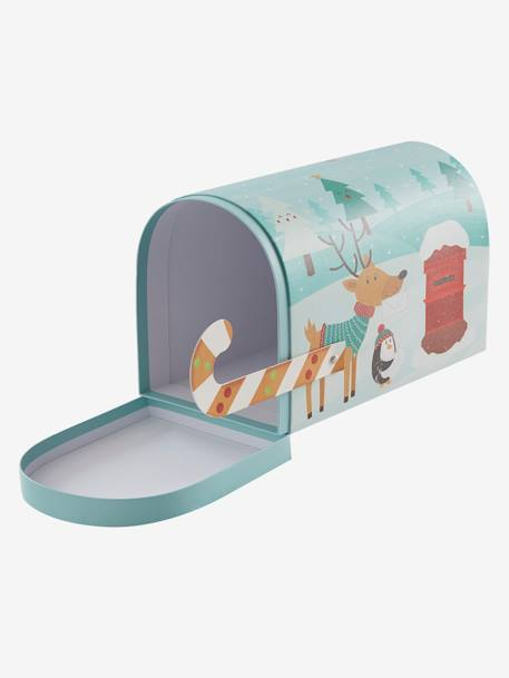 Christmas Post Box GREEN LIGHT SOLID WITH DESIGN - vertbaudet enfant