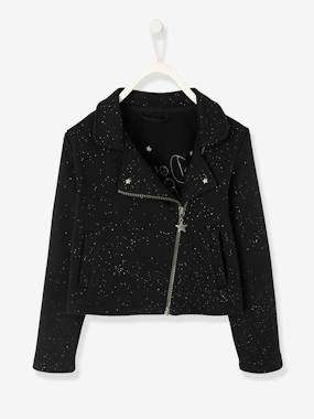 Vertbaudet Sale-Girls-Coats & Jackets-Glittery Jacket for Girls with Sequins