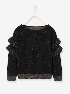 Festive favourite-Girls-Jumper with Frilled Sleeves, for Girls