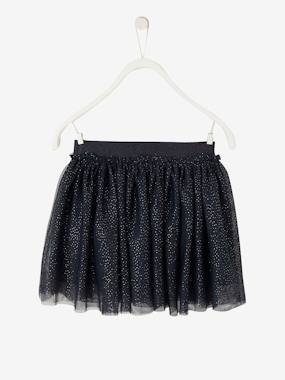 Girls-Skirts-Girls' Iridescent Tulle Skirt