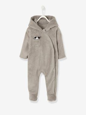 Vertbaudet Sale-Baby-Mickey® Onesie in Polar Fleece for Babies
