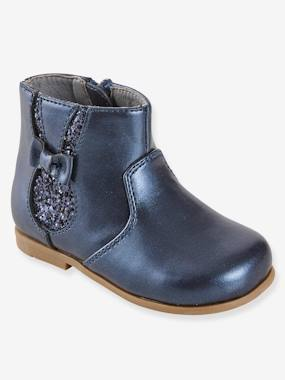 Shoes-Boots with Zip for Girls