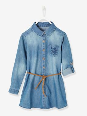 Outlet-Girls-Dresses-Denim Dress for Girls