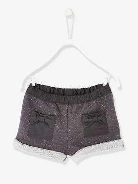 Baby-Shorts-Baby Girls' Iridescent Fleece Shorts