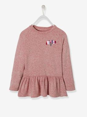 Girls-Cardigans, Jumpers & Sweatshirts-Jumper with Frills for Girls