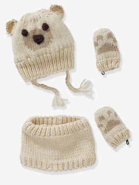Baby-Hats & Accessories-Knitted Beanie & Snood for Babies