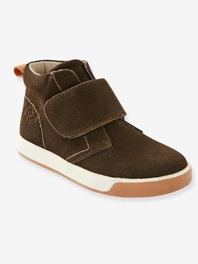 Vertbaudet Sale-Shoes-Boys Footwear-Leather Boots with Touch 'n' Close Fastening for Boys