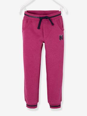 Vertbaudet Collection-Girls-Fleece Joggers for Girls