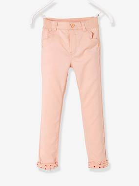 Pantalon slim fille tour de hanches FIN - rose pale 6c757e8dff5a