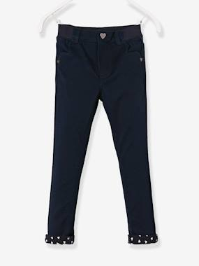 Vertbaudet Collection-Girls-Trousers-WIDE Hip Slim Trousers for Girls