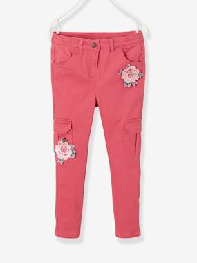 Mid season sale-Girls-Slim Leg Cargo Trousers for Girls