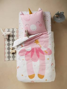 Bedding-Child's Bedding-Duvet Covers-Duvet Cover + Pillowcase Set for Children, CRAZY LICORNE Theme