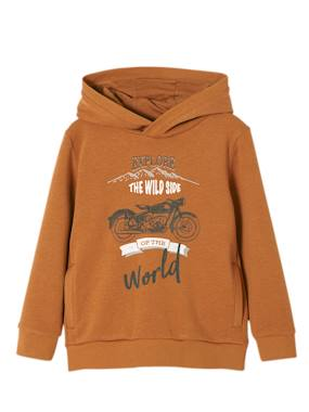 Vertbaudet Sale-Boys-Cardigans, Jumpers & Sweatshirts-Hooded Sweatshirt for Boys