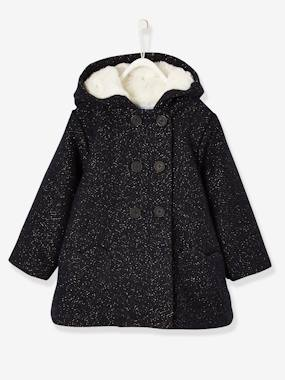 Baby-Outerwear-Coats-Coat with Golden Specks for Baby Girls