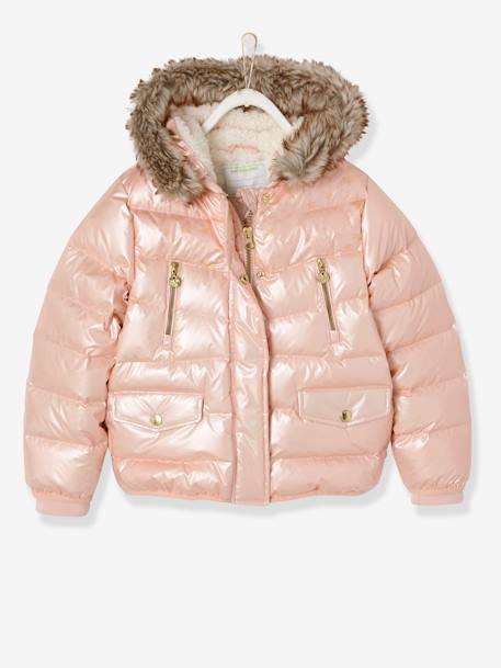 6e257d3b0 Down Jacket with Star Print for Girls - pink light solid with design, Girls