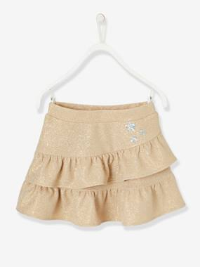 Festive favourite-Girls-Iridescent Skirt for Girls, Ruffles & Sequinned Patches