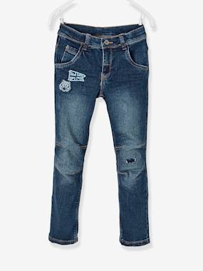 Vertbaudet Sale-Boys-Trousers-NARROW Hip, Slim Jeans for Boys