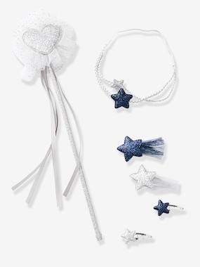 Girls-Accessories-Magic Wand + Headband + Hair Clips Accessories Set for Girls
