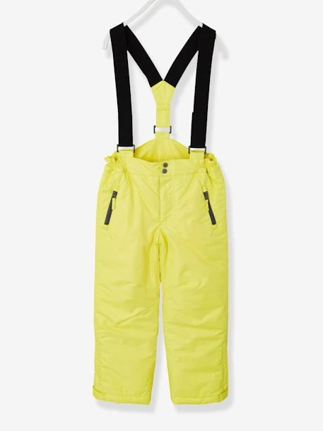 Boys' Ski Trousers YELLOW BRIGHT SOLID - vertbaudet enfant