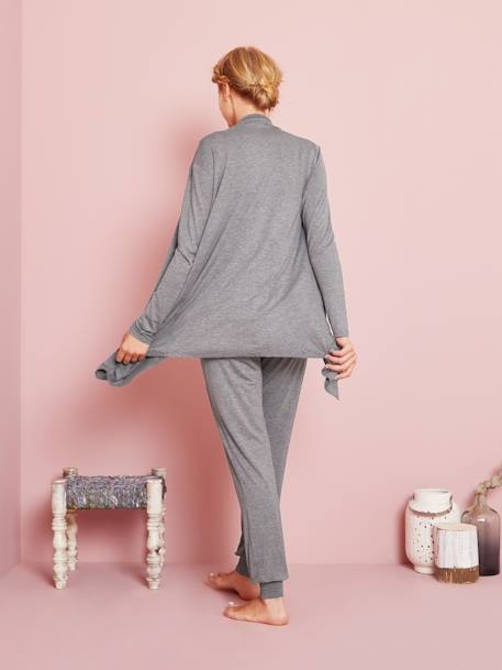 Maternity & Nursing Loungewear 3-Piece Kit Black+GREY MEDIUM MIXED COLOR - vertbaudet enfant