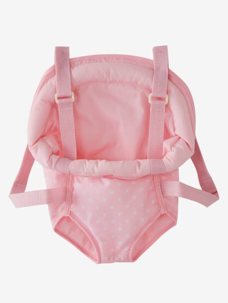 Doll Baby Carrier PINK MEDIUM 2 COLOR/MULTICOL - vertbaudet enfant