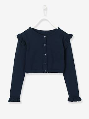 Girls-Cardigans, Jumpers & Sweatshirts-Short Cardigan for Girls