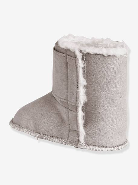 Newborn Baby Soft Bootees Light taupe - vertbaudet enfant