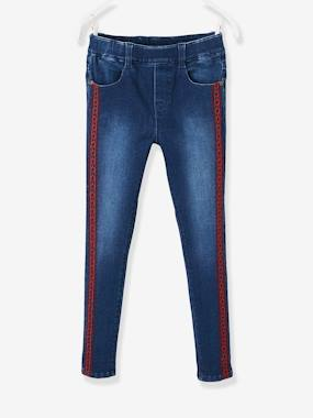 Girls-Jeans-Embroidered Denim Treggings for Girls