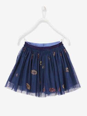 Festive favourite-Girls-Tulle Skirt for Girls, Rhinestone Kisses