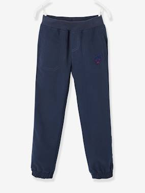 Vertbaudet Sale-Boys-Cargo Trousers with Fleece Lining for Boys
