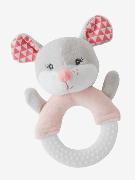 Teether Ring, Mimi Mouse PINK LIGHT 2 COLOR/MULTICOL R - vertbaudet enfant