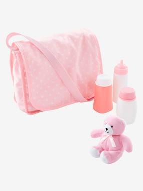 Toys-Dolls & Accessories-Changing Bag + Accessories for Doll