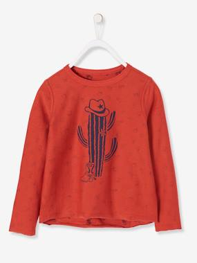 Boys-Tops-Reversible Top for Boys, with Cowboy Motifs