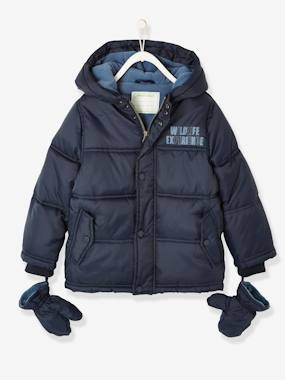 Vertbaudet Sale-Boys-Padded Jacket for Boys, Fleece Lining