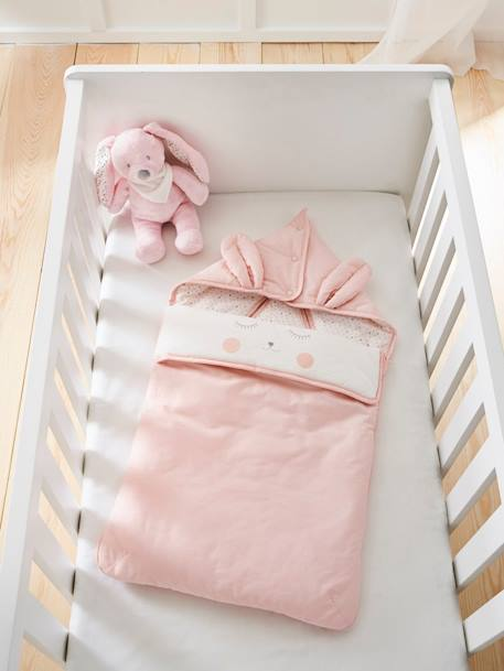 Baby Nest, Lovely Bunny Theme PINK LIGHT SOLID WITH DESIGN - vertbaudet enfant