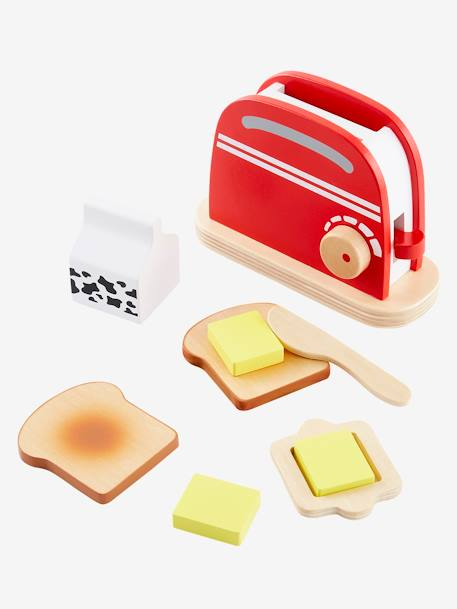 Wooden Toaster Set BLUE LIGHT TWO COLOR/MULTICOL - vertbaudet enfant