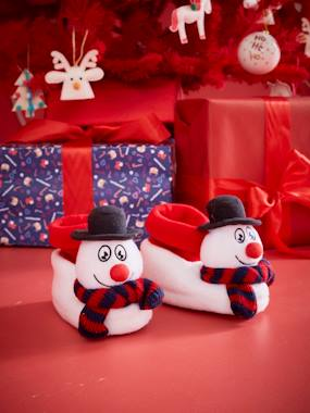 Shoes-Boys Footwear-Snowman Slippers for Children