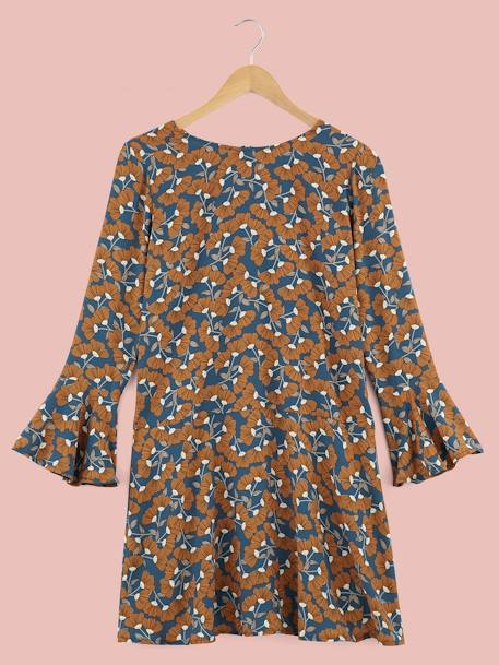 DRESS BLUE MEDIUM ALL OVER PRINTED - vertbaudet enfant