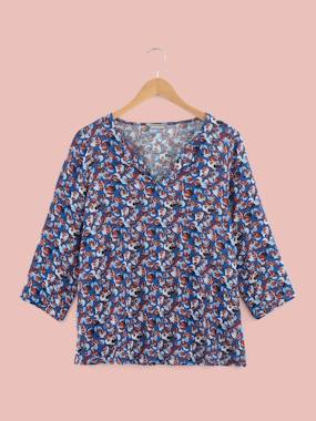 Vertbaudet Collection-Maternity-Petal Print Maternity Blouse