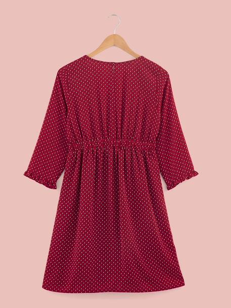 Dotted Wrapover Maternity Dress RED MEDIUM ALL OVER PRINTED - vertbaudet enfant
