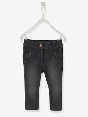 Happy Price Collection-Baby-Baby Girls' Straight Fit Jeans